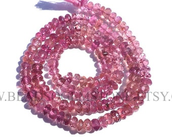 Pink Tourmaline Faceted Rondelle (Quality A+) / 4.50 to 5 mm / 36 cm / TOUR-016