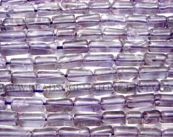 Amethyst Smooth Tube (Quality B) / 4.50x8.50 to 4.50x10 mm / 36 cm / AME-098