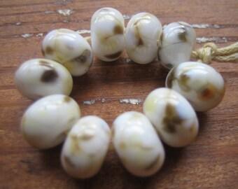 Marble Frittie Lampwork Glass Beads, SRA, UK Seller, UK Lampwork