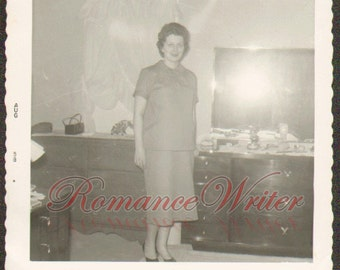 Mom to Be Vintage Photo of a Pregnant Woman