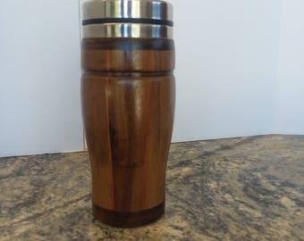 Black Walnut and Bubinga Travel mug with stainless steel liner.  #5