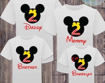 Matching Birthday Family Girl Disney Tshirts - Minnie Mouse Birthday Girl - Disney Inspired - Matching Birthday Shirts