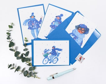 A set of 4 Christmas Greeting Cards