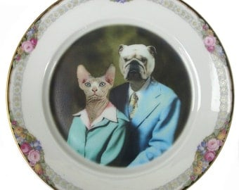 Earl and Betty Portrait Plate 7.65""