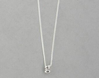 Rhodium Initial g Necklace