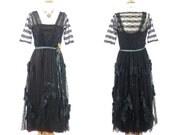 Edwardian Dress, 1910s Dress, Edwardian Lace Gown, Titanic Era Dress, Antique Art Nouveau Dress