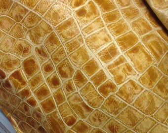 M329.  Distressed Tan Leather Cowhide Partial