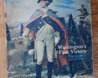 George Washington Revolutionary War Liberation of Boston 1976 Publication Maps  Colored Art Illustrations N. C. Wyeth Trumbull