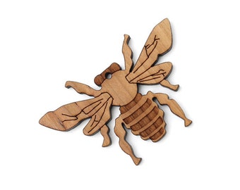 Honey Bee Ornament - Made in the USA with sustainably harvested wood! - Timber Green Woods, USA.