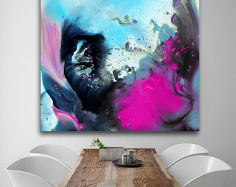 Abstract painting on Plexiglas, acrylic Print, high gloss print, Large Abstract Print on Acrylic Glass, abstract wall art, modern wall art