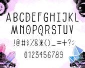 Hand Written Font - Witch Baby - Digital Download - Modern Typeface