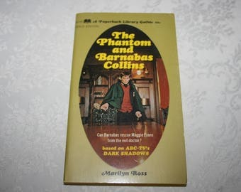 """Vintage Paperback Book """" The Phantom and Barnabas Collins """" By Marilyn Ross 1969 """" Dark Shadows """" TV Show Gothic Fantasy Romance Vampires"""