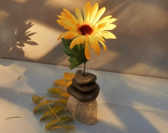 Bud Vase of Lake Superior Stone;  #21
