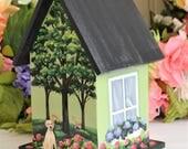 Birdhouse Custom to Match Home, Decorative, Painted