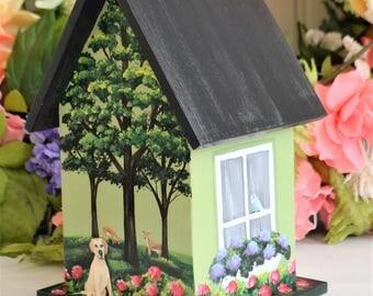 Decorative Painted Birdhouse