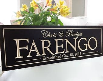 Personalized Name Sign | Family Name Sign | Last Name Sign | Picture Wall | Wedding Gift | Established Sign | Date Sign | 3D sign