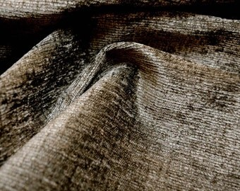 Dark Grey Chenille Upholstery Fabric
