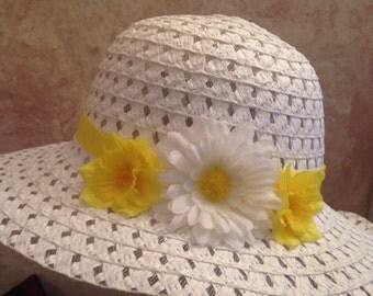 2017 Design - Little Girls Hat - Easter Hat -Derby Hat -