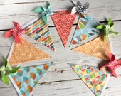 Pinwheel Bunting - Summer Banner - Pinwheel Banner - Sherbet Colors