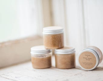 Coconut and Brown Sugar Scrub 4oz -  Set of 24 Favors-  Great for weddings, baby showers, bridal showers, client gifts