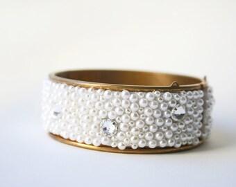 Bridal Bracelet, Beaded Bridal Bracelet, Wedding Jewelry
