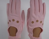 Allsize-Vintage Pink Dress/Church/Prom Gloves w/decoration - 7-1/2 inches long (853g)