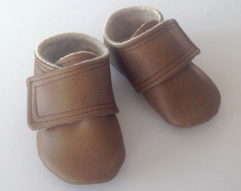 Brown Leather Baby Shoes | 3-6 Month size |  FREE shipping in the US