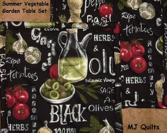 """Pick a Print-Set of 2 (8"""")  Eat Your Veggies-Quilted-Handmade-Insulated-Hot Pads-Pot Holders- MJ Quilts-Made in USA"""