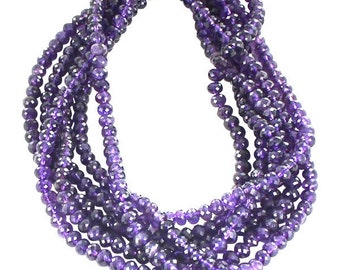 AMETHYST BEADS FACETED 8mm Rondelles NewWorldGems