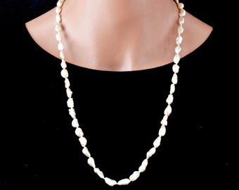 Natural Freshwater Pearl Necklace, Long Pearl Necklace, Baroque Pearl Necklace, Natural Pearl Necklace, Beaded Necklace, Keepsake Jewelry