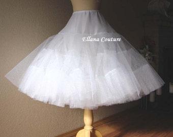 Tea Length Crinoline. EXTRA EXTRA Fullness Petticoat. Available in Several Colors.