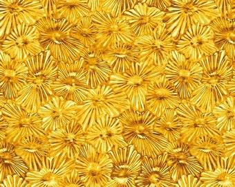 Glass House from Benartex - Full or Half Yard Gold Flower Blender