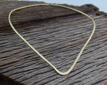 Gold neck cuff in brass Simple minimal choker