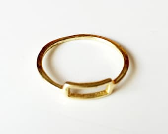 Gold ring,delicate Stacking ring,minimalist ring,modern Midi ring,US Size 9-18K Gold filled