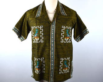 Ethnic Huipil Shirt with Detailed Embroidery