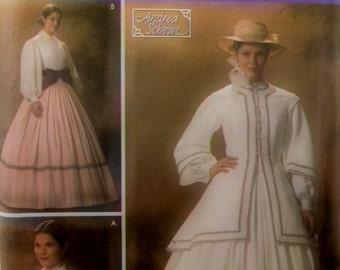 Simplicity Costume 4900  Dress/Jacket Civil War  Patterns Size 10,12,14,16,18 Uncut/FF