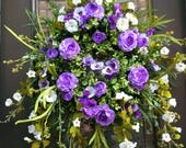 Wild Purple & White Wreath