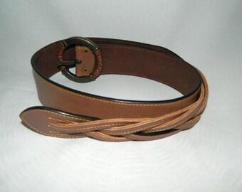 Linea Pelle Leather Belt - Vintage Brown Leather Belt