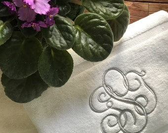 Monogrammed / personalized / embroidered bath mat