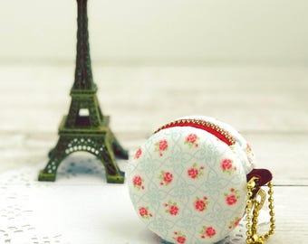 5 cm Macaron Coin Purse, Fabric Coin Purse ,Coin Pouch , Macaroon Purse, Jewellery case, coin pouch key chain