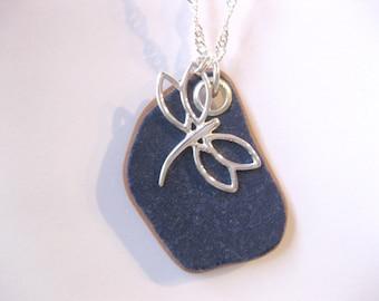 Pottery Jewelry Sea Pottery jewelry Sea Pottery Necklace Ceramic Pendant I love jewelry Beach Glass Jewelry, Handmade Custom Jewelry