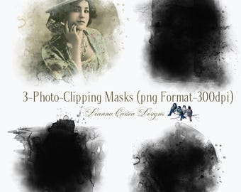 Clipping Masks, Photography masks, overlays, clip art, digital scrapbooking, card making, instant download, cu ok, png format, photo mask