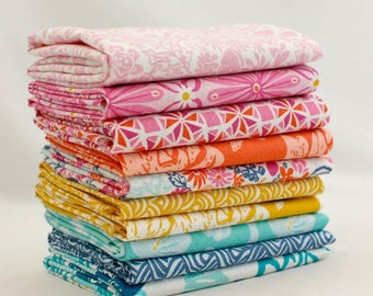 "Early Bird - Half Yard Bundle - 10 - 18""x44"" Cuts - Kate Spain - Moda Quilt Fabric"
