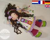 Crochet pattern for doll YUNA, pdf  (Deutsch, English, Nederlands, Français)