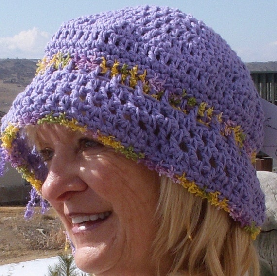 Women's Fashion / Bohemian Accessories / Purple Crochet Hat / Women's Crochet Hat / Hats By Anne 1942