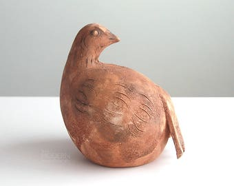 Rare Bitossi Scavo Modern Italian Stoneware Bird with Forked Tail