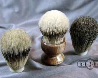 Maple Burl Shaving Brush Choose your Badger Hair Brush Father's Day Gift Birthday Wet Shaving Ready2Ship