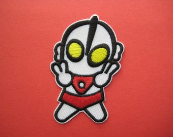 SALE~ Iron-on Embroidered Patch Japan Hero Ultraman 3.25 inch