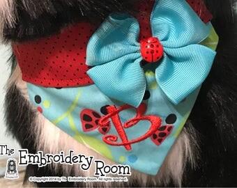 Dog Bandana-Over the Collar Style-Lady Bug