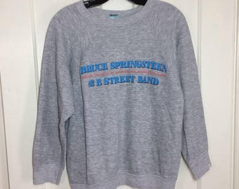 1984 Bruce Springsteen E Street Band Born in the USA Tour size Large heather gray sweatshirt 84-85